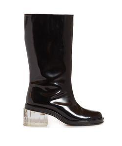 Simone Rocha | Perspex-Heel Leather Boots