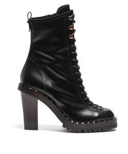Valentino | Soul Rockstud Leather Ankle Boots