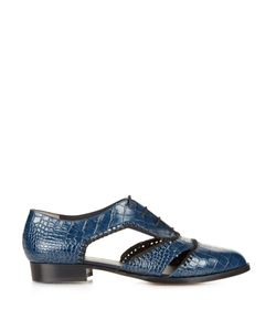 Robert Clergerie | Ambro Crocodile-Effect Leather Shoes