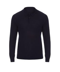 GIEVES & HAWKES | Long-Sleeved Fine-Knit Polo Shirt