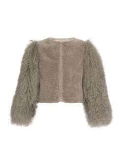 CHARLOTTE SIMONE | Big Bird Shearling Bomber Jacket