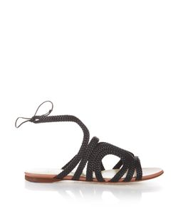 FRANCESCO RUSSO | Braided-Leather Flat Sandals