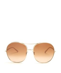 Chloe | Nola Squared-Aviator Sunglasses