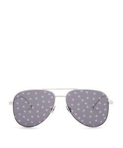 Saint Laurent | Star-Print Aviator Metal Sunglasses
