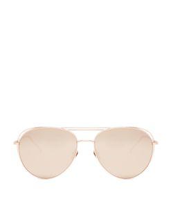 Linda Farrow | Aviator Rose Plated Sunglasses