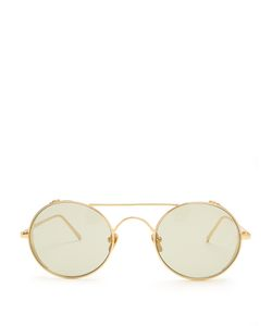 Linda Farrow | Round-Frame Plated Sunglasses