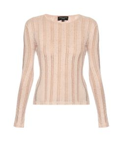 PEPPER & MAYNE | Bardot Ribbed-Knit Top