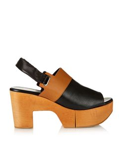 Robert Clergerie | Carine Wooden-Platform Leather Sandals