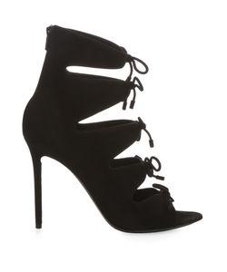 Balenciaga | Bouclé-Bow Suede Sandals
