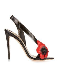 OLGANA PARIS | Coquelicot Poppy Python Sandals