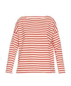 ORCIVAL   Breton-Stripe Oversized Cotton Top