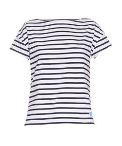 ORCIVAL   Breton-Stripe Cotton T-Shirt