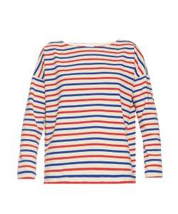ORCIVAL   Tri-Colour Breton-Stripe Cotton Top