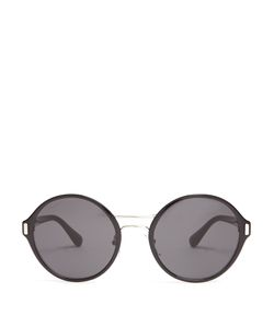 Prada | Round-Frame Acetate And Metal Sunglasses