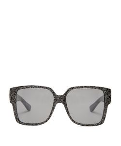Saint Laurent | Rectangle-Frame Glitter Sunglasses