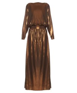 MAFALDA VON HESSEN | Metallic Long-Sleeved Maxi Dress