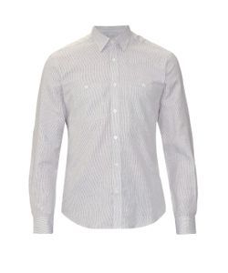 GIEVES & HAWKES | Patch-Pocket Cotton And Linen-Blend Shirt