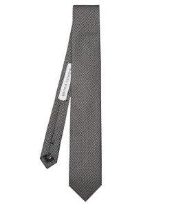 MATHIEU JEROME | Geometric-Jacquard Silk Tie