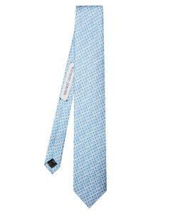 MATHIEU JEROME | Micro Geometric-Jacquard Silk Tie