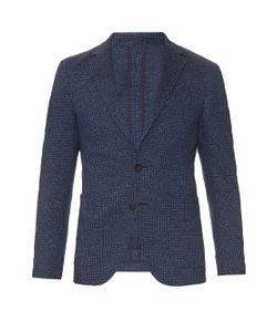 AC CANTARELLI | Two-Button Geometric-Weave Blazer