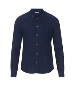 GIEVES & HAWKES | Long-Sleeved Linen Shirt