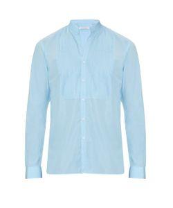 MATHIEU JEROME | Button-Cuff Grandad-Collar Cotton Shirt
