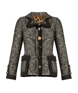 Dolce & Gabbana | Contrast-Trim Cotton-Blend Tweed Jacket