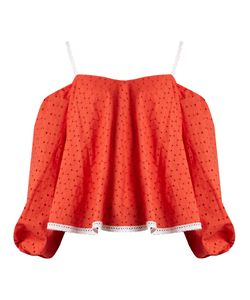 ANNA OCTOBER | Puff-Sleeve Off-The-Shoulder Broderie-Anglaise Top