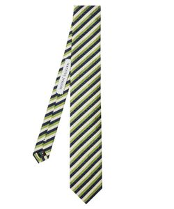 MATHIEU JEROME | Striped-Jacquard Silk Tie