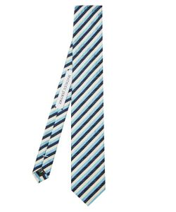 MATHIEU JEROME | Striped-Jacquard Silk Tie