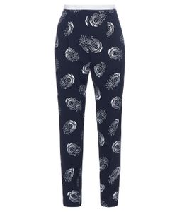 Caterina Gatta | Art Deco Flower-Print Trousers