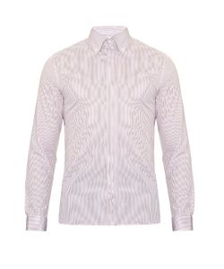 MATHIEU JEROME | Button-Cuff Button-Down Collar Cotton Shirt