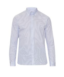 MATHIEU JEROME | Button-Cuff Button-Down Collar Cotton Shirt