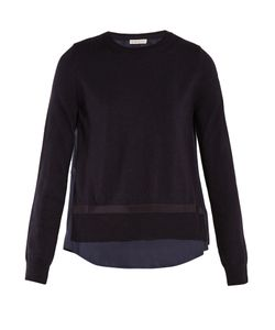Moncler   Contrast-Panel Wool Sweater