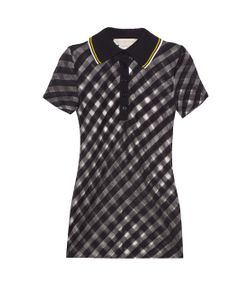 Stella Mccartney | Checked Sheer-Knit Polo Shirt