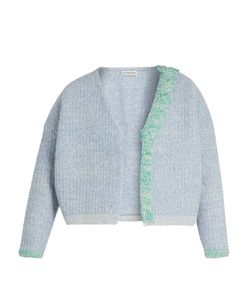 Vika Gazinskaya | Plaited-Detail Wool Open Cardigan