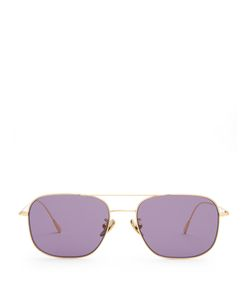 CUTLER & GROSS | 1267 Square-Frame Plated Sunglasses