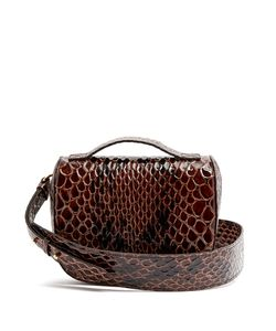 Simone Rocha | Snake-Effect Leather Cross-Body Bag