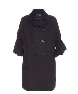 YOHJI YAMAMOTO REGULATION | Ruffle-Sleeves Cotton-Gabardine Coat