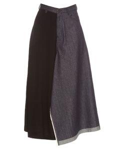 YOHJI YAMAMOTO REGULATION | Centreman Denim And Jersey Culottes
