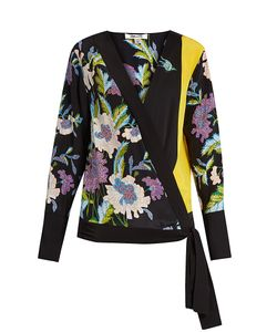 Diane Von Furstenberg | -Print Crossover Silk Blouse