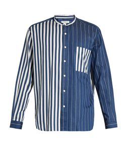 Tomorrowland | Contrast-Stripe Cotton-Twill Shirt