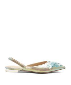 Delpozo   Point-Toe Sequin-Embellished Slingback Flats