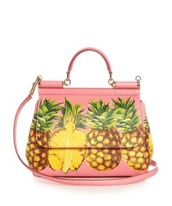 Dolce & Gabbana | Sicily Medium Pineapple-Print Leather Tote