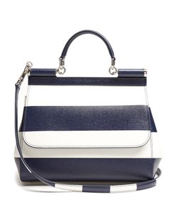 Dolce & Gabbana | Sicily Medium Striped Leather Tote