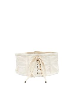 Isabel Marant | Herese Lace-Up Cotton-Blend Corset Belt