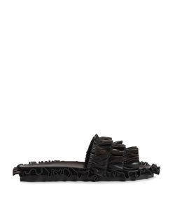 Simone Rocha | Ruffled Leather Slides