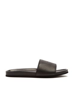 Buscemi | Logo-Debossed Leather Slides