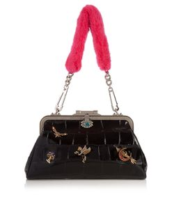 Alexander McQueen | Embellished Leather Shoulder Bag