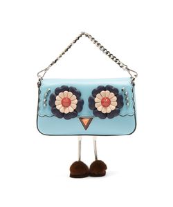 Fendi | Micro Baguette Fur-Embellished Cross-Body Bag